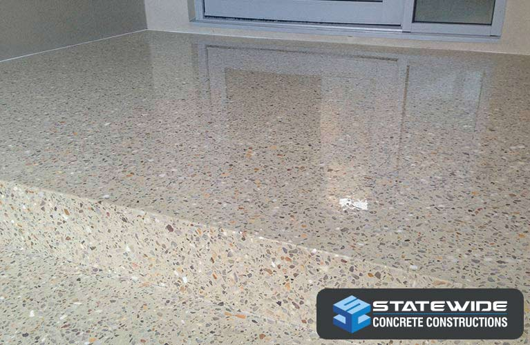 statewide concrete constructions polished step