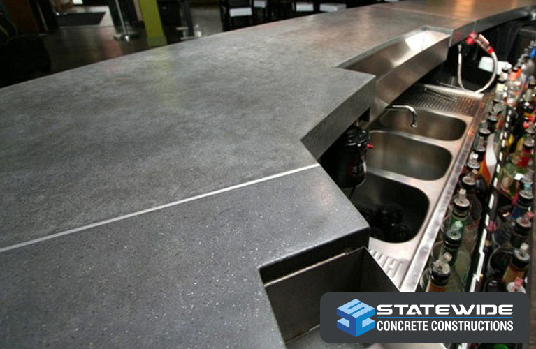 statewide concrete constructions polished bar top