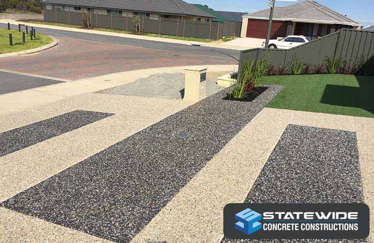 statewide concrete constructions exposed aggregate drive