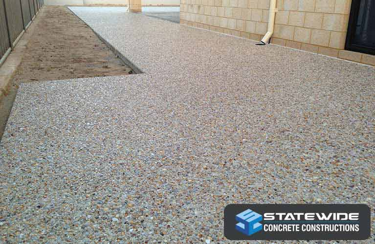 Exposed aggregate at a home in Perth