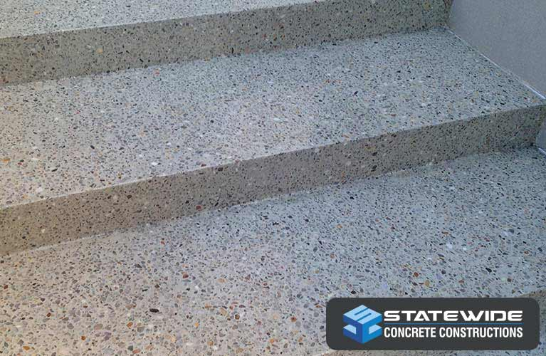 Some of our polished concrete steps in Perth