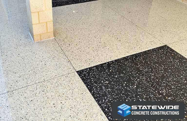 statewide concrete constructions black and white honed concrete