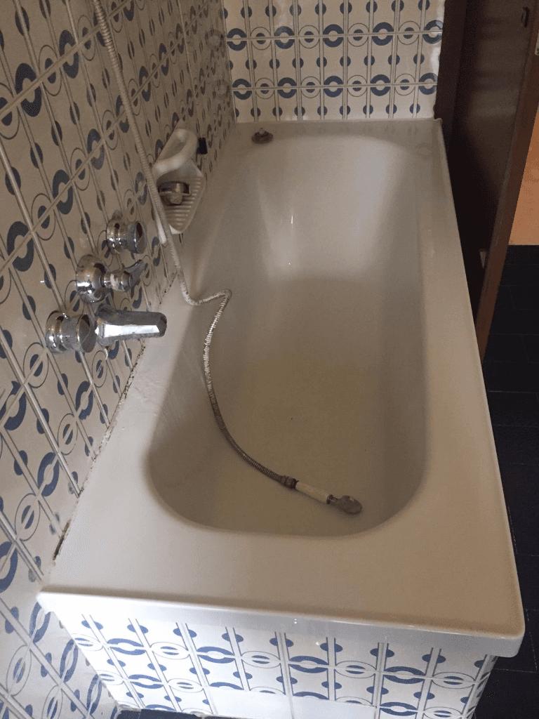 una vasca pulita