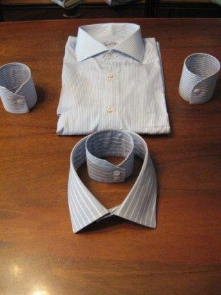 polsino camicia quadrato, gemelli per camicie