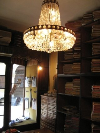 lampadario in stile, sartoria