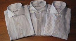 camicia a righe, camicia tinta unita