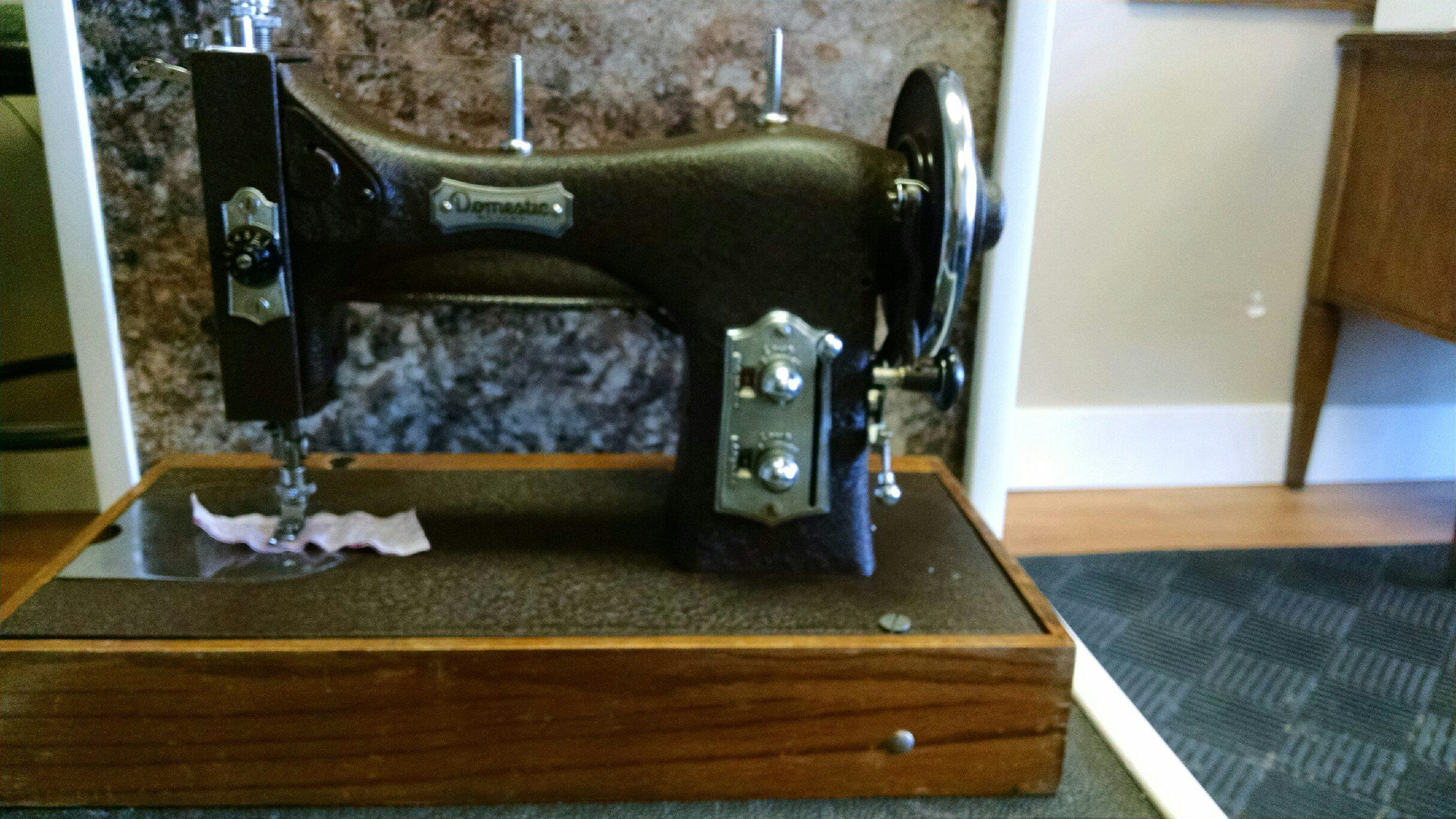 Sewing machine after receiving cleaning services in Wasilla, AK