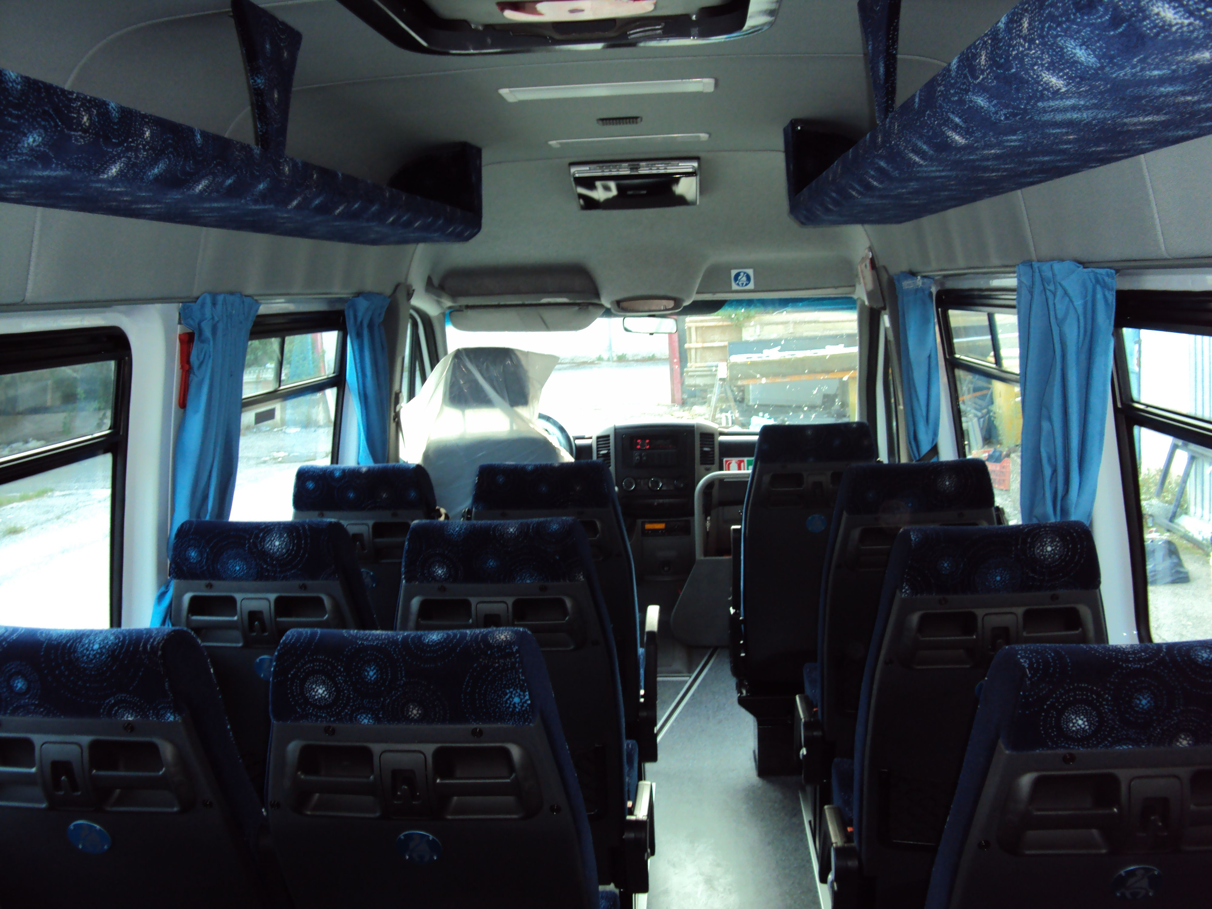 minibus visto dall'interno