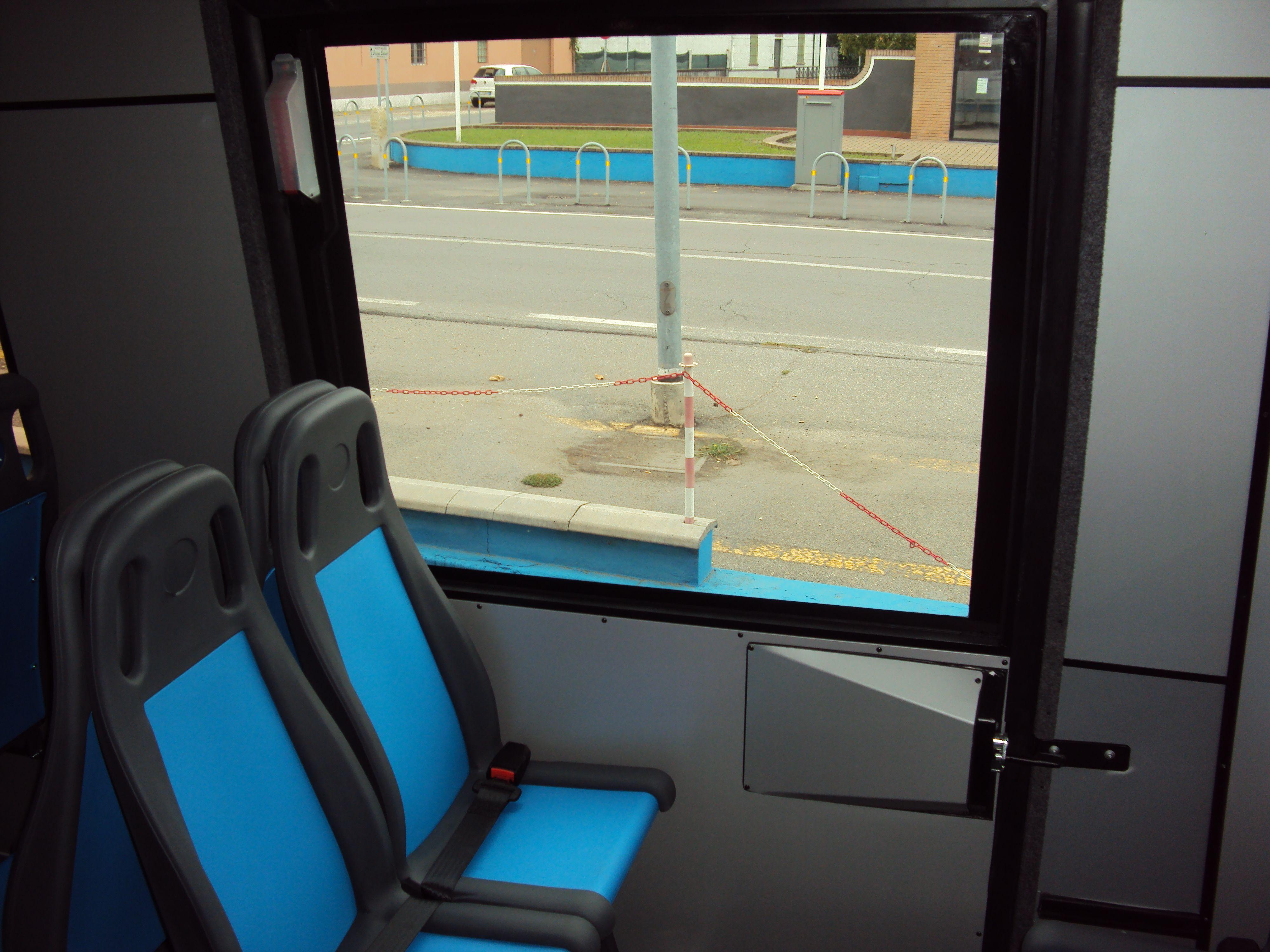 Posti per disabili di un bus