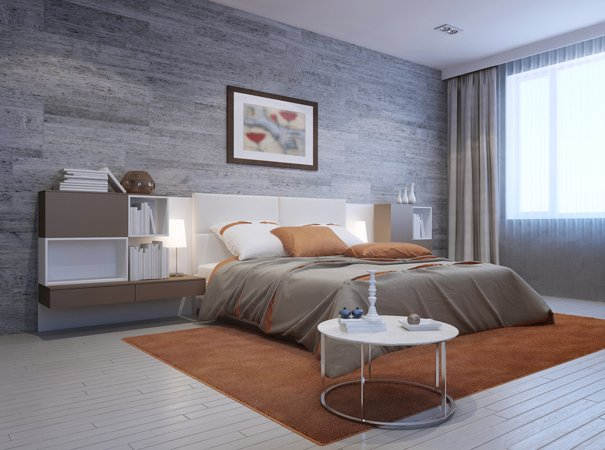 Vista di una camera da letto