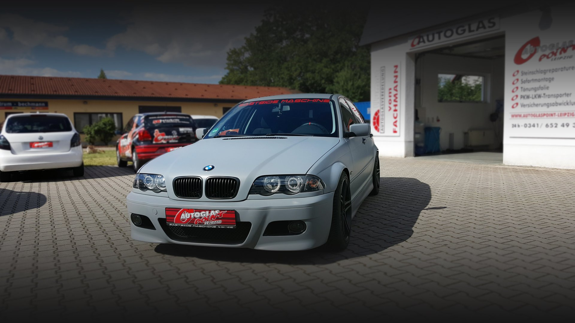 BMW graue Folierung des Fahrzeugs