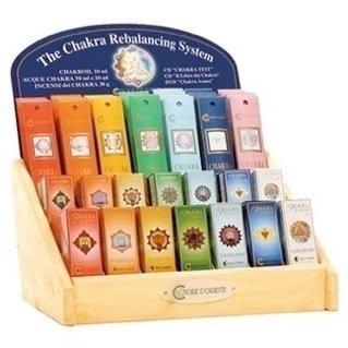 uno stand con scritto The Chakra Rebalancing System