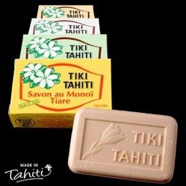 Delle saponette della marca Monoi Tiki Tahiti