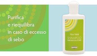 una confezione di Tea Tree shampoo