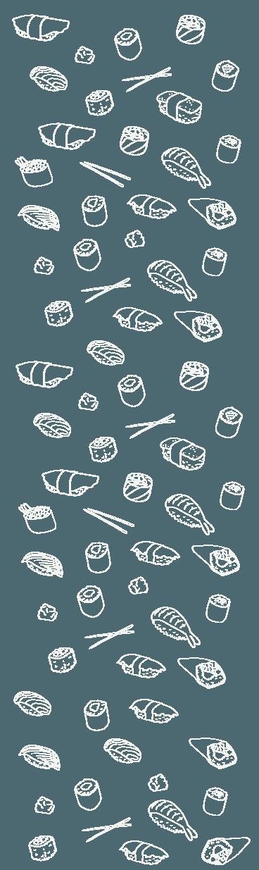 disegni di maki, sushi e bacchette