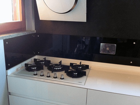 Vetro per cucine retro fornelli