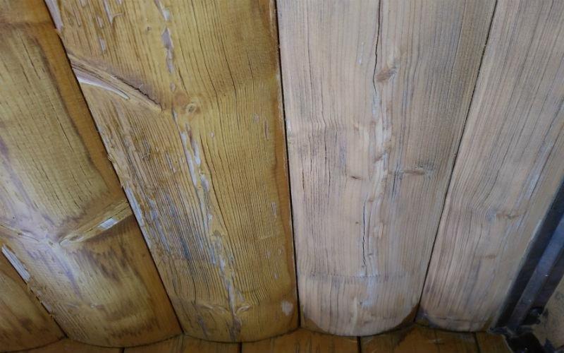 dettaglio travi in legno