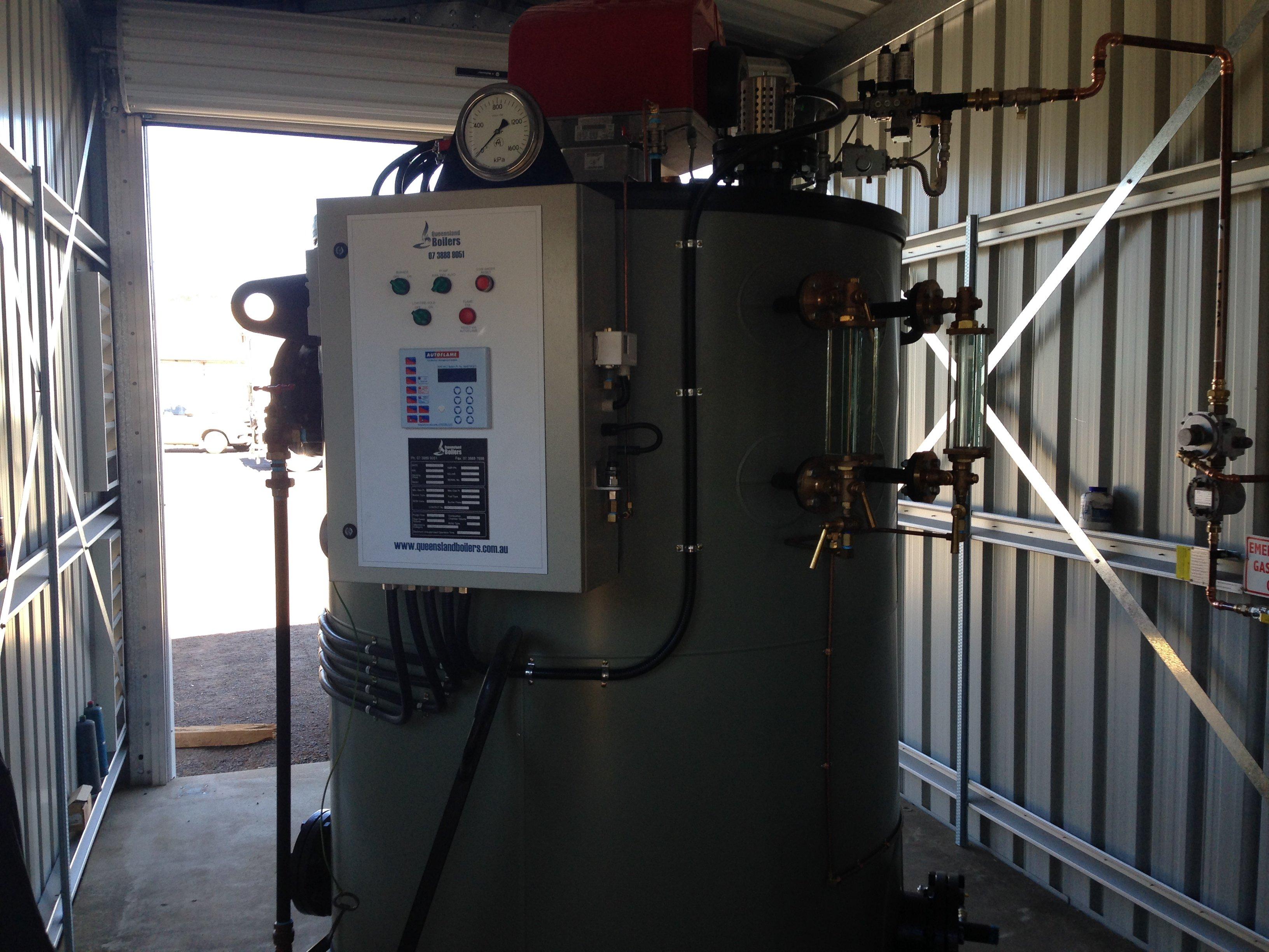 New vertical compact steam boiler