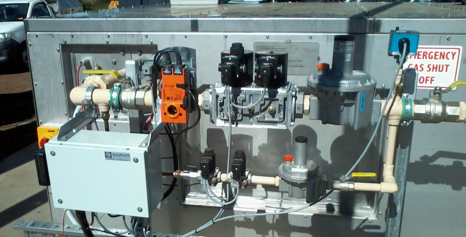 Gas fired dryers - gas manifold