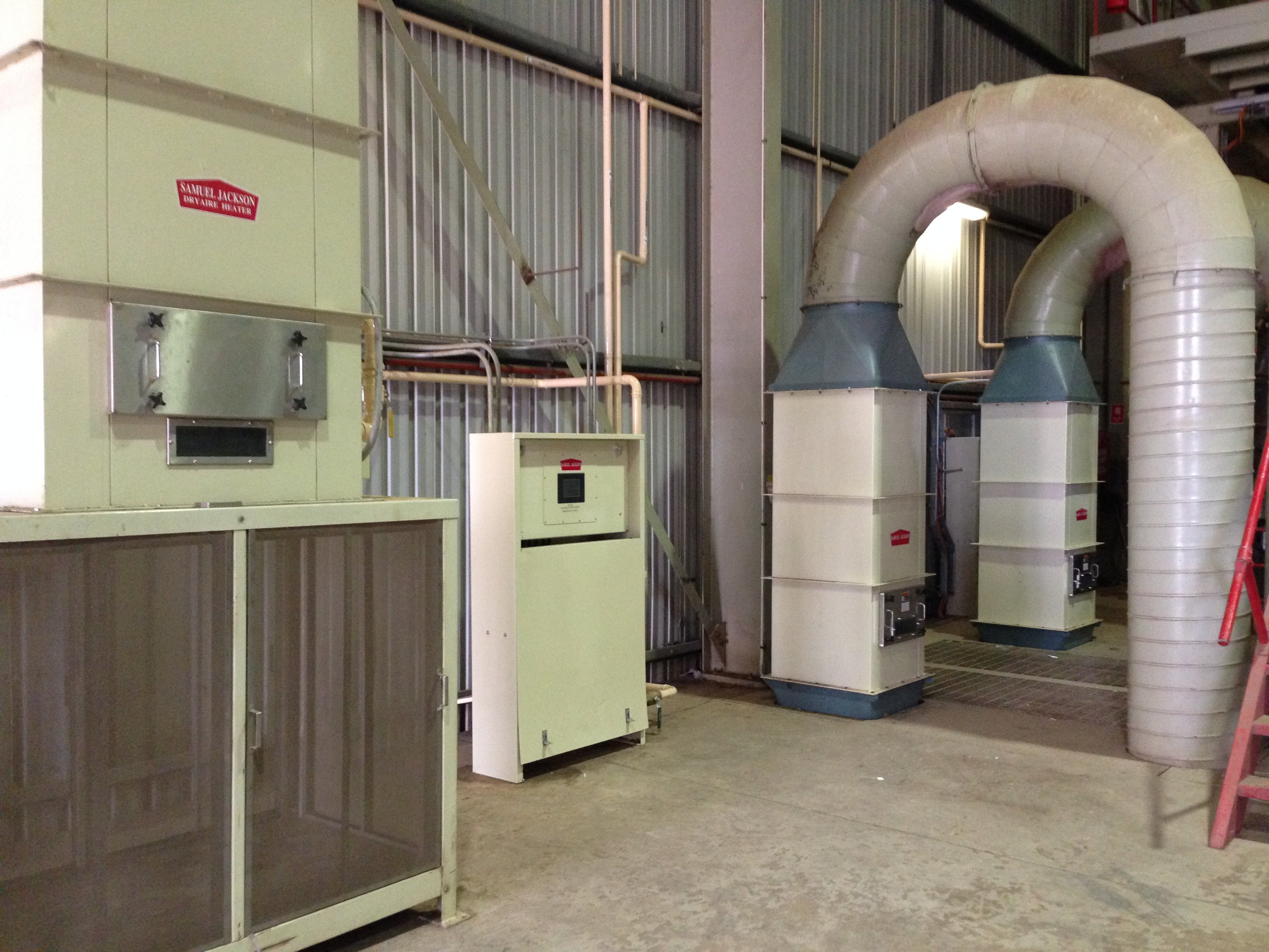 Air heat burners