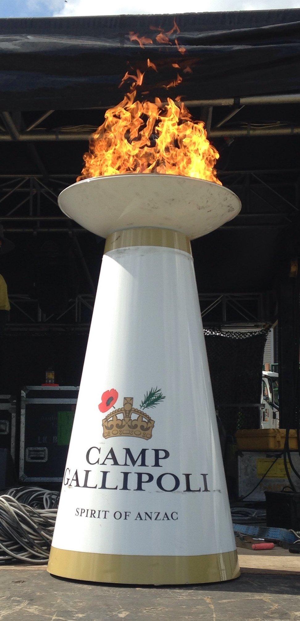 Camp Gallipoli Remembrance Cauldron