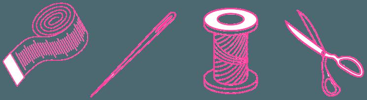 Icone taglio e cucito