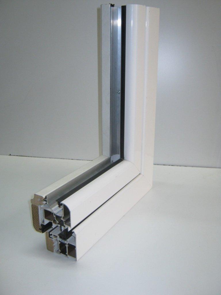 sezione angolare finestra legno alluminio