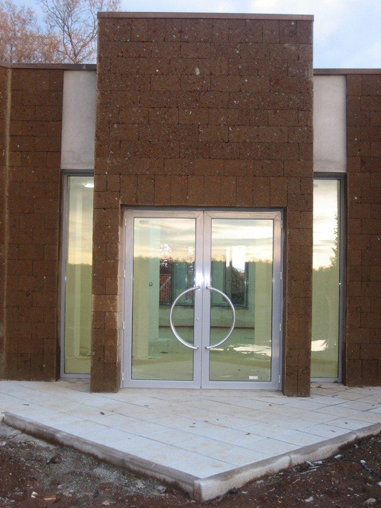 finestra porta ingresso in alluminio