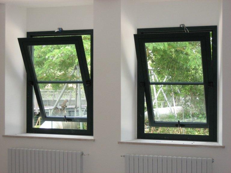 finestre alluminio basculanti a bilico