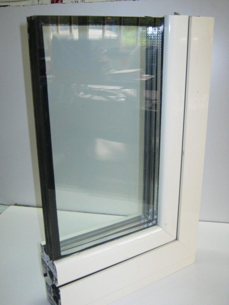 angolare con vetro a doppia camera alluminio