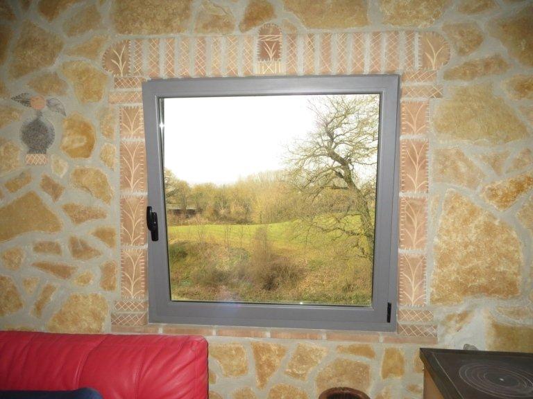 finestra moderna alluminio isolante