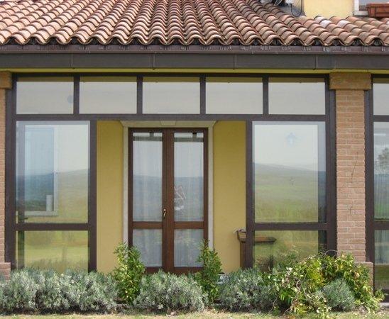 alluminio veranda giardino