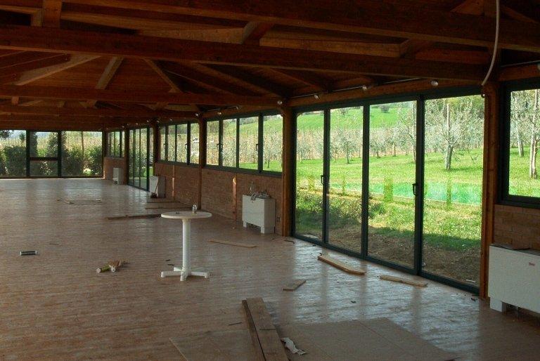 veranda alluminio in costruzione