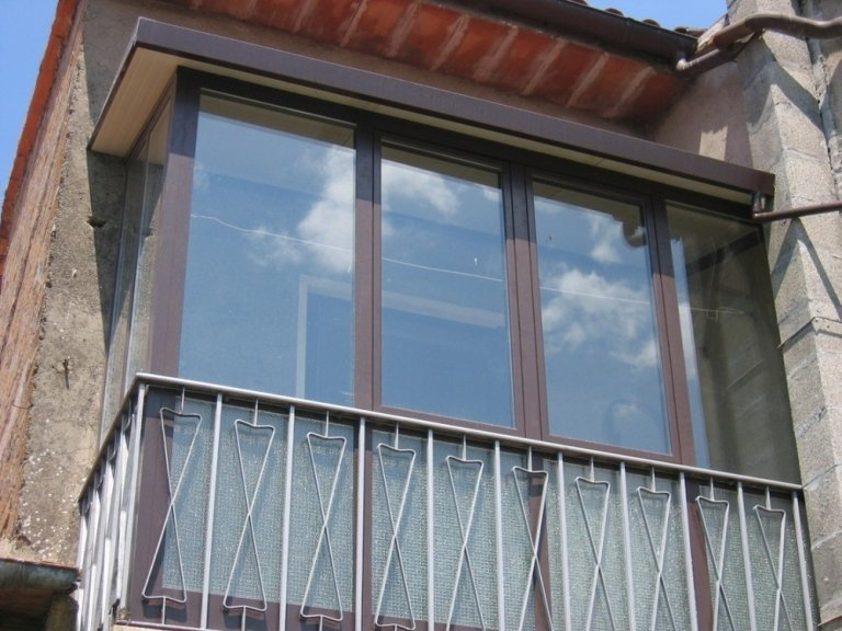 terrazzo con veranda alluminio