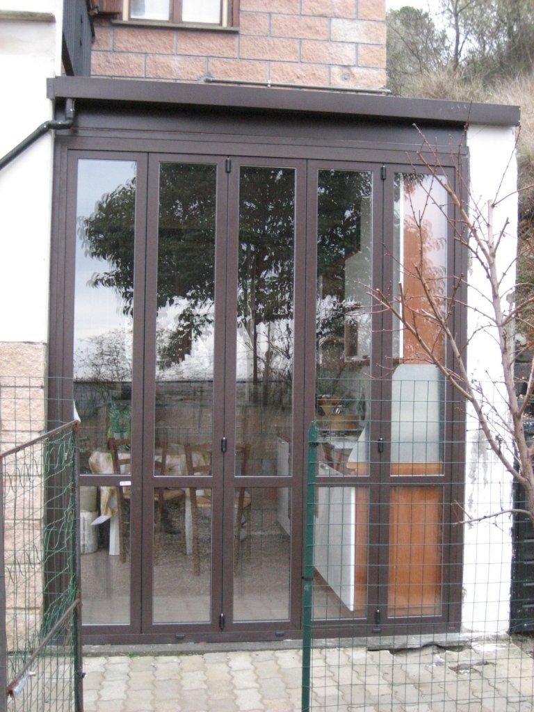 interno veranda casa alluminio Terni