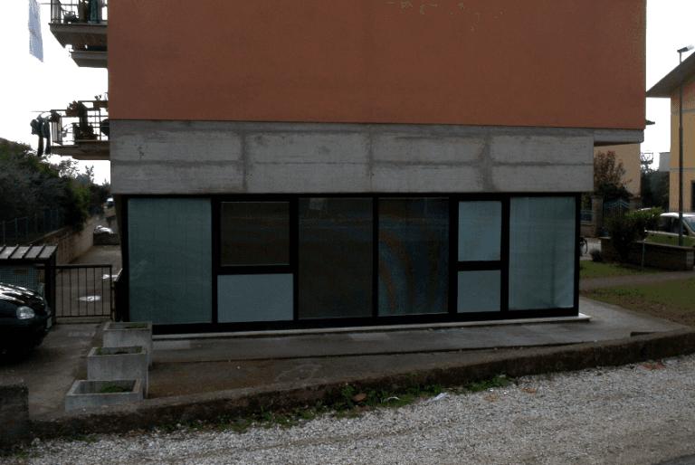veranda in alluminio in fuorisquadro Terni