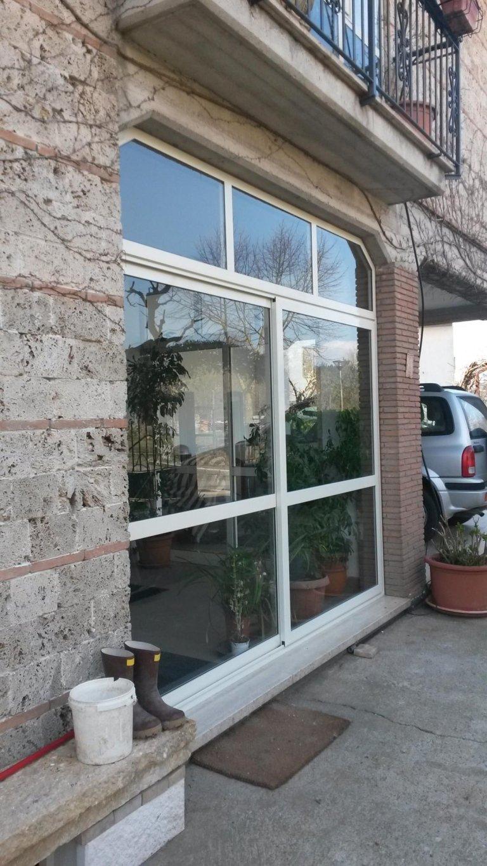 Veranda  scorrevole alluminio isolante  Terini Viterbo Orvieto Amelia