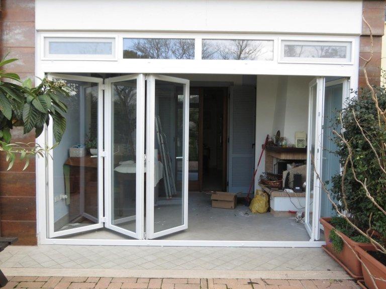 Veranda chiusa con pvc isolante