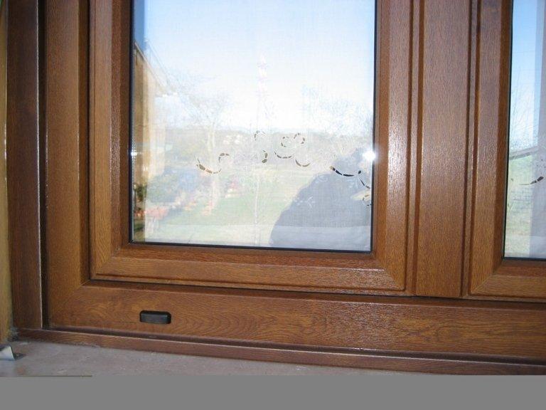finestra pvc particolare angolo arrotondato