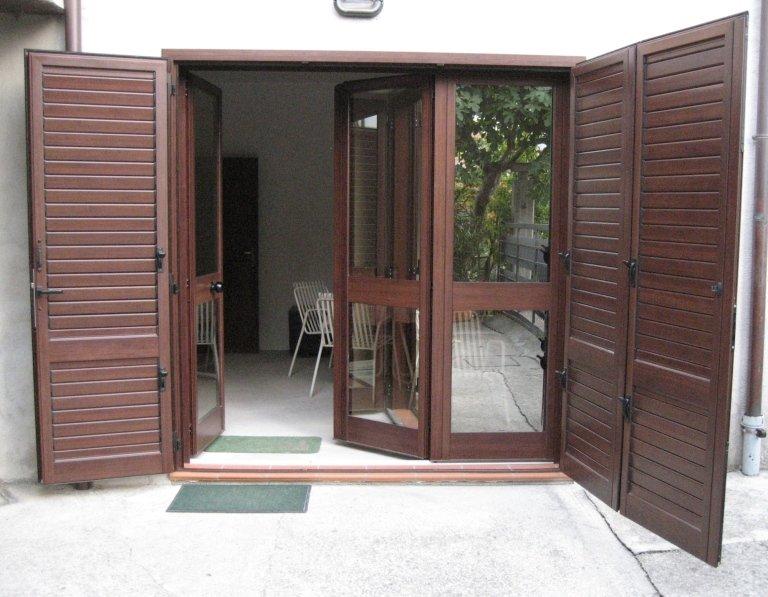 combinata porta più persiana kikau orientabile