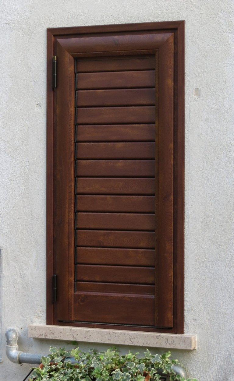 Portellone alluminio finto legno kikau