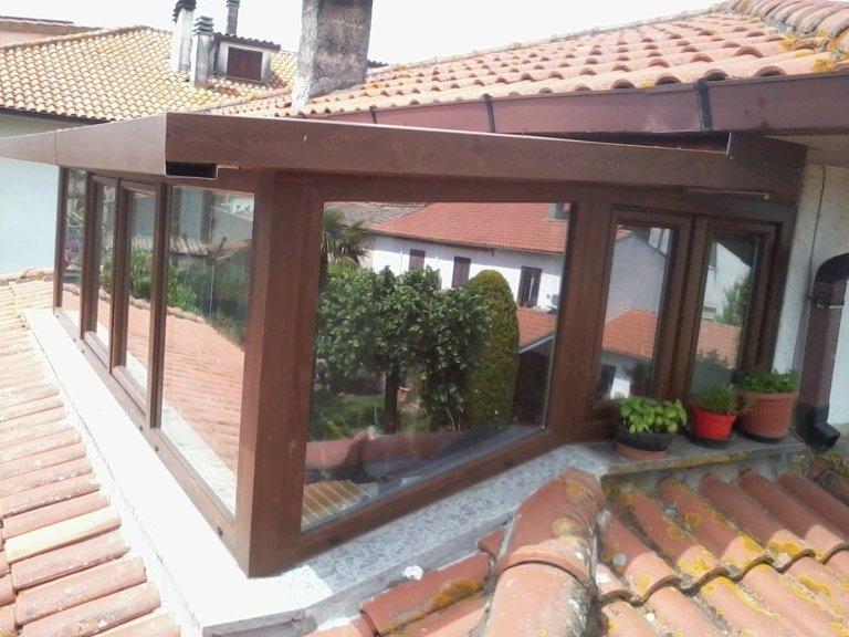veranda pvc a tetto