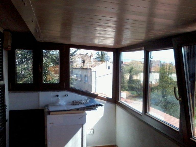 veranda con telaio pvc
