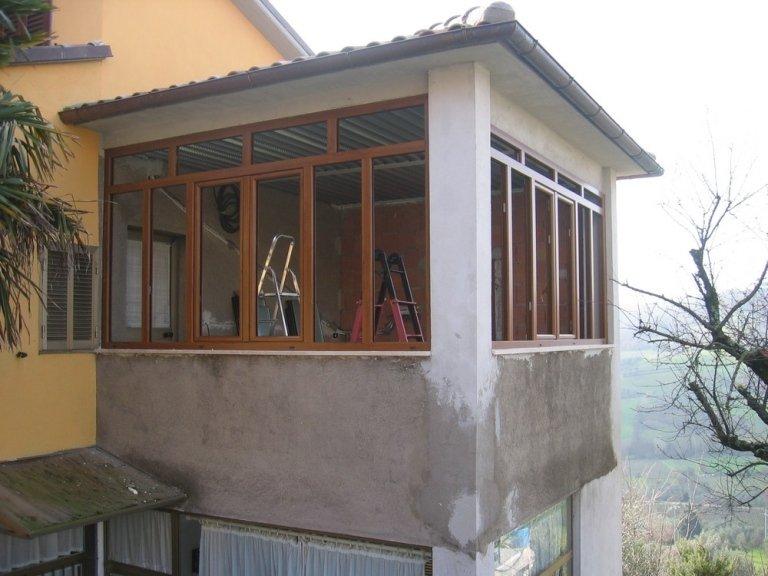Extrêmement Chiusure per terrazzi in pvc - Terni-Vierbo-Orvieto - C.I.MET. HV15