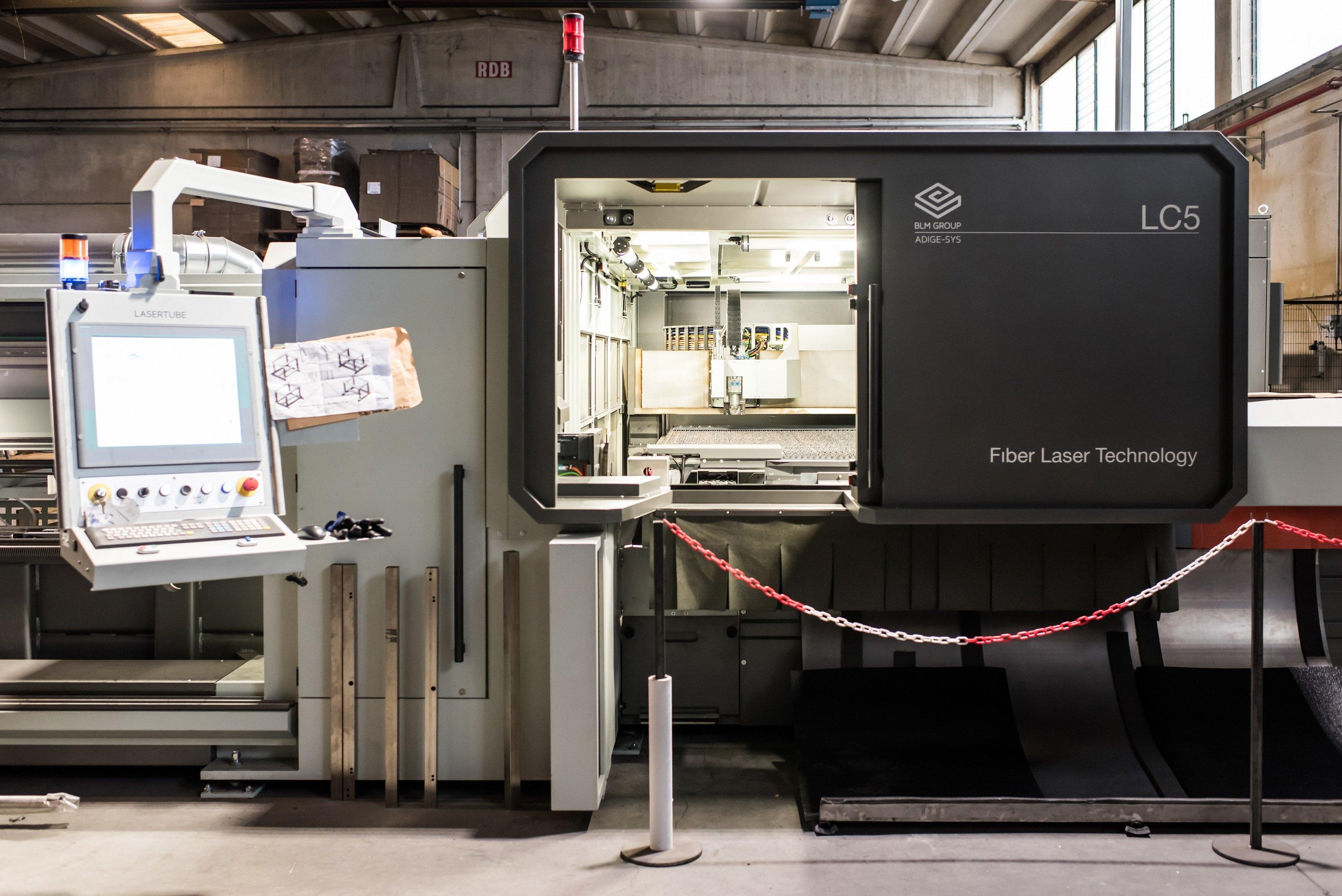 Officina meccanica Lavorazione taglio laser fibra a Pavia