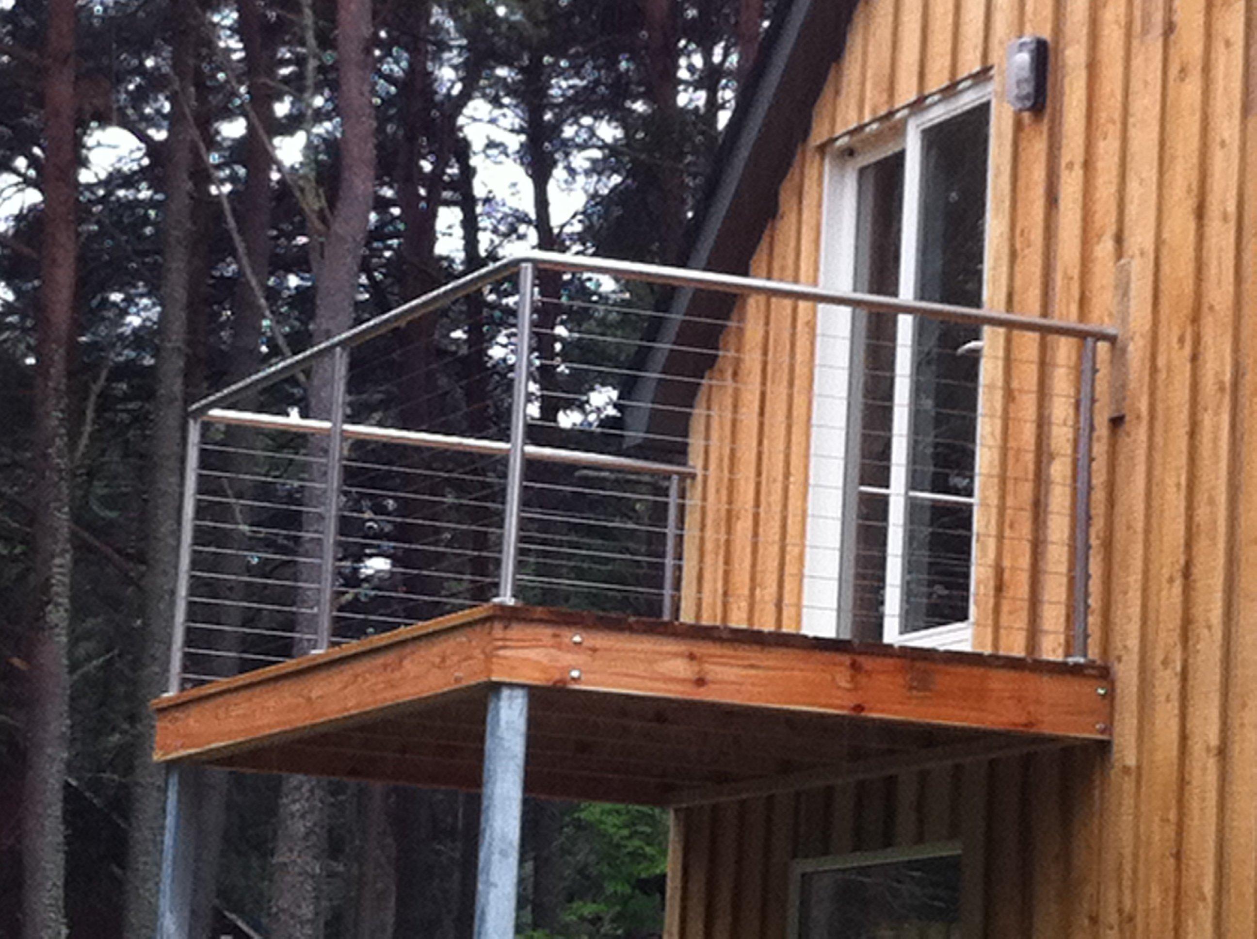 Metal railings