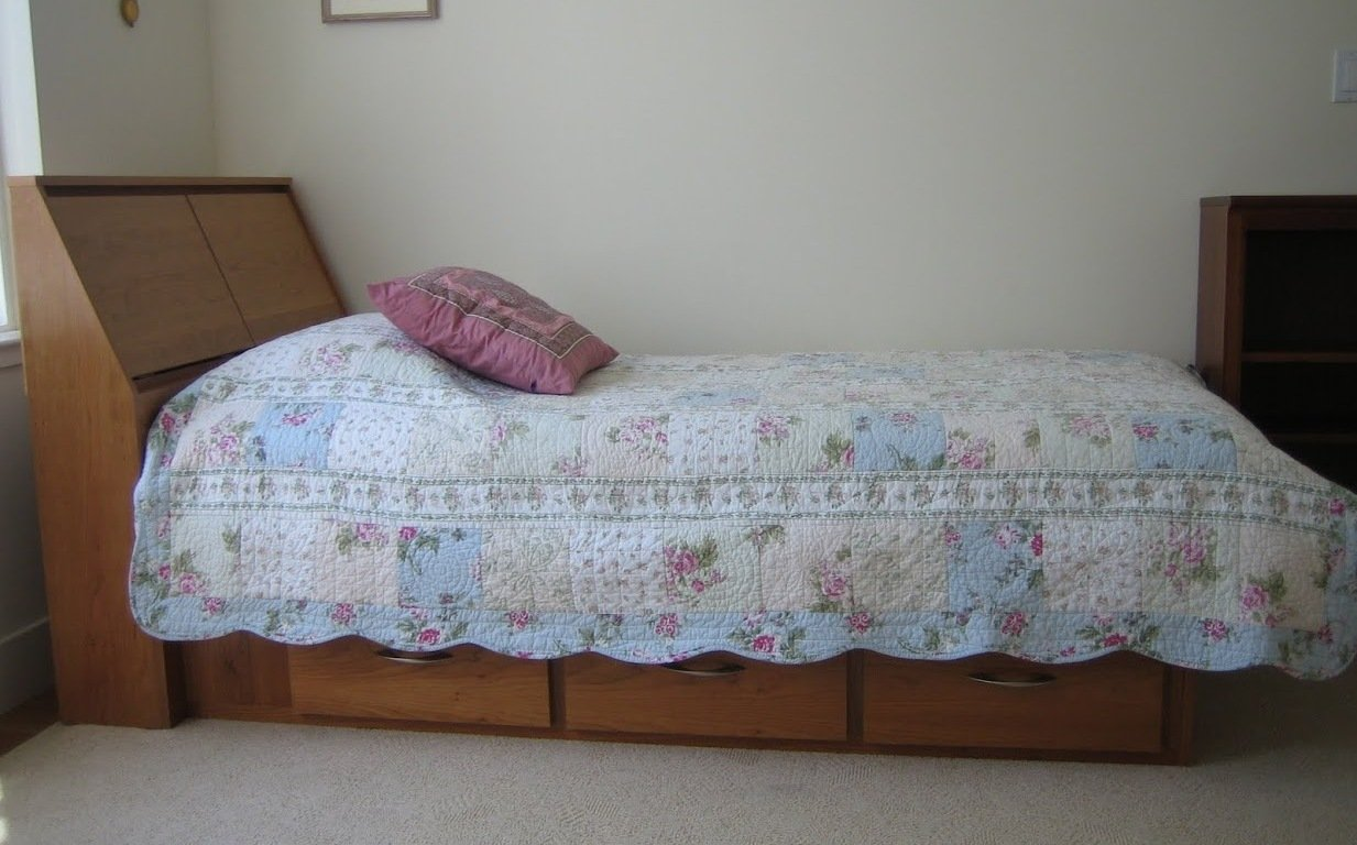 Twin bed side view - View All
