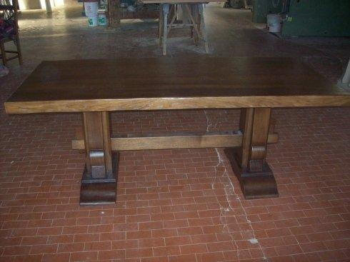 tavolo rettangolare legno scuro