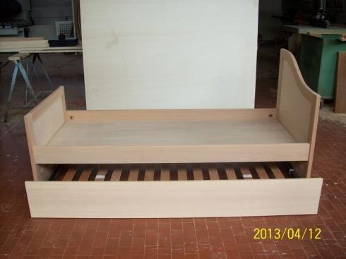 letto singolo con cassetto