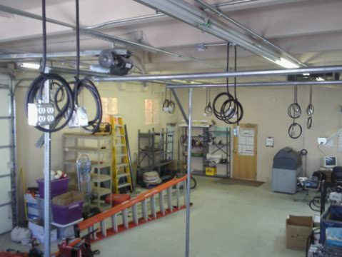 Garage of electrician tools in Littleton, CO